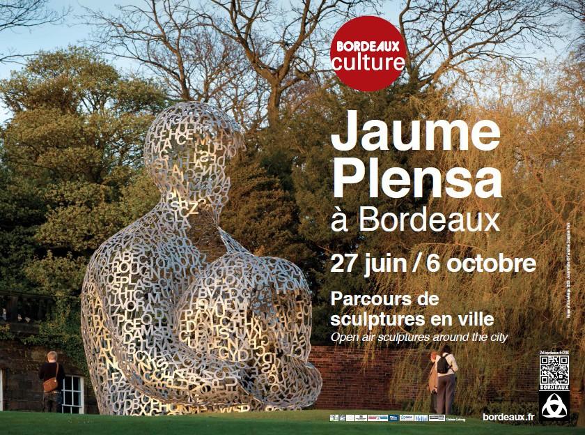 Affiche de l'exposition de Jaume Plensa à Bordeaux