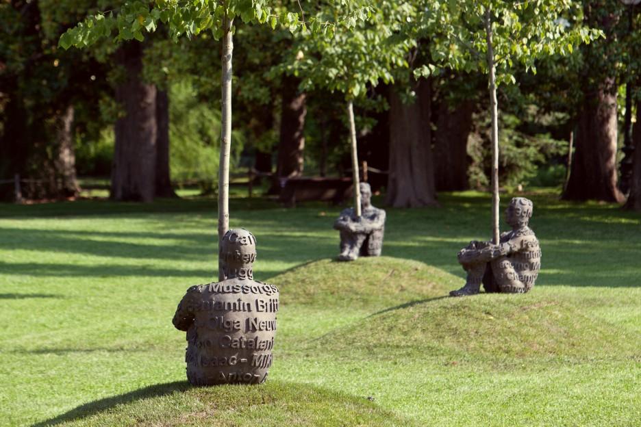 Oeuvre Jaume Plensa au Jardin Public de Bordeaux 3 statues