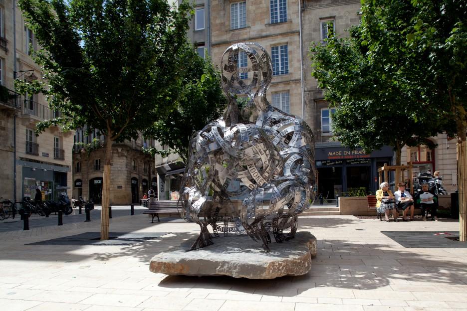 Oeuvre Jaume Plensa place Fernand Lafargue à Bordeaux